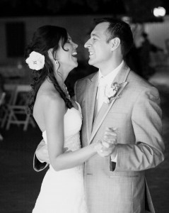 My husband and I having our first dance at our wedding!  So excited to spend forever with this man.
