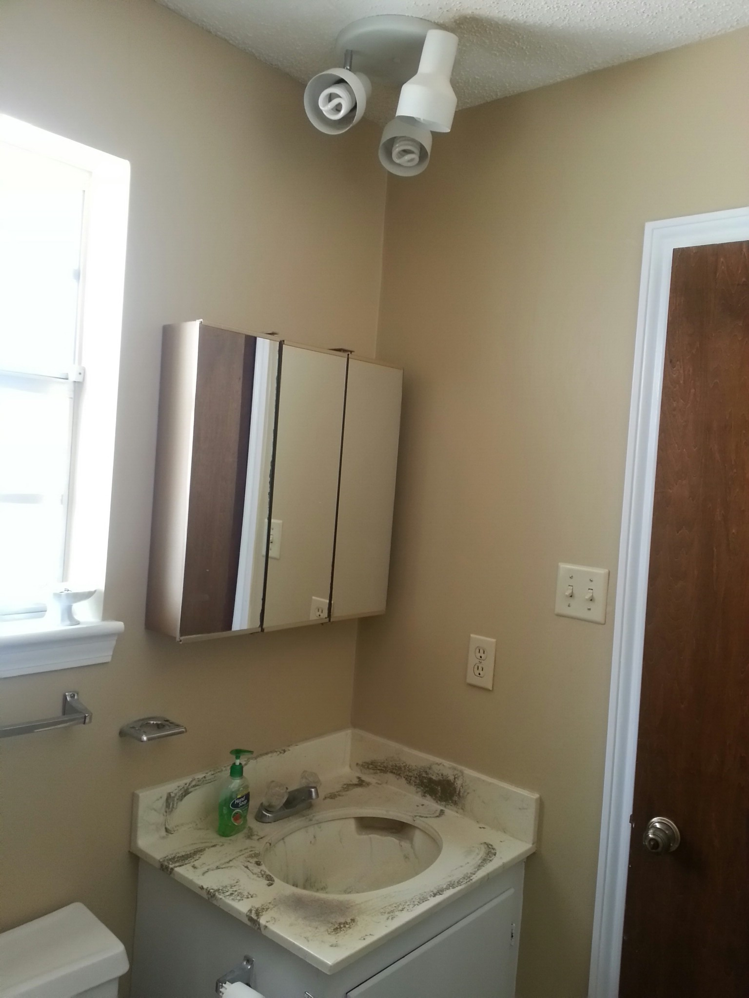 Diy master bathroom makeover the mirror better than for Master bathroom makeover