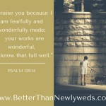 "JUST SAY ""THANK YOU"" BECAUSE YOU ARE FEARFULLY AND WONDERFULLY MADE 