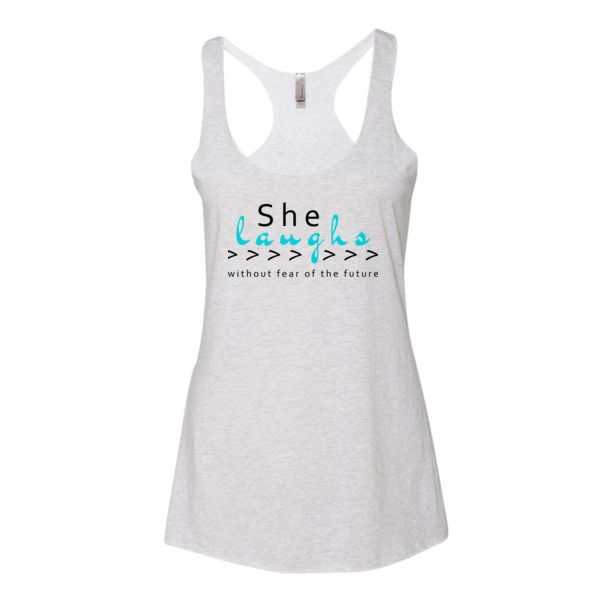 """She Laughs"" Women's tank top"