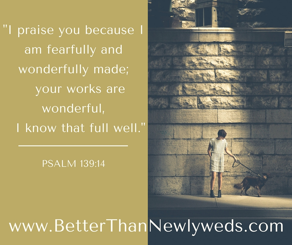 """JUST SAY """"THANK YOU"""" BECAUSE YOU ARE FEARFULLY AND WONDERFULLY MADE 